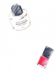 nail polish, polish, perfume, lady, feminine, women, Fred Segal